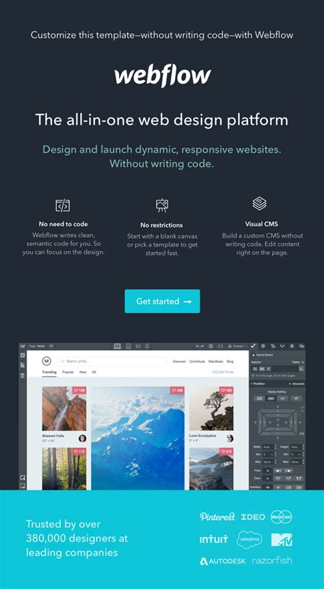 Themeforest Webflow | magic strong webflow template by madeon08 themeforest