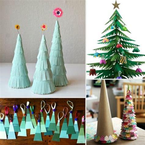 weihnachtsbaum papier ausschneiden girlande basteln