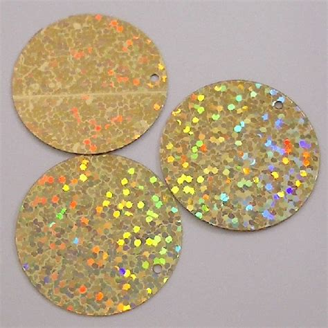 xxl large 60mm gold hologram effect sequins x 25