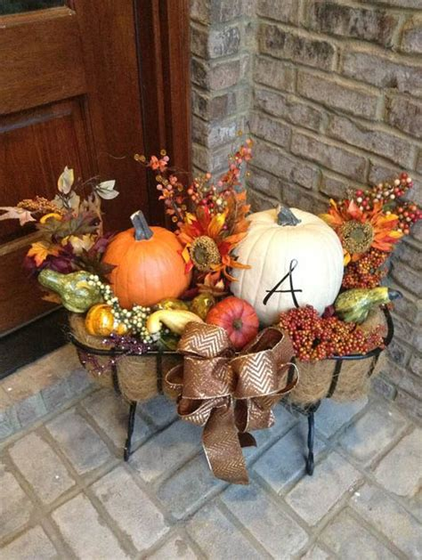 30 eye catching outdoor thanksgiving decorations ideas