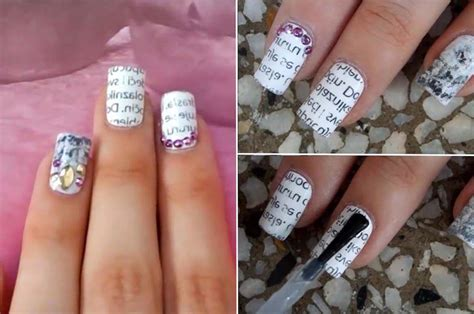 How To Make Nail Designs With Paper - how to paper transfer nail tutorial
