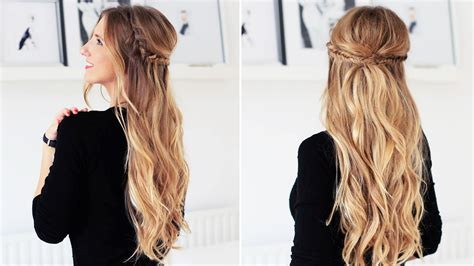 braided hairstyles luxy hair fishtail braid half updo for short medium and long hair