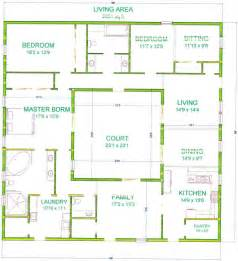 Square house plans with courtyard in center free printable house