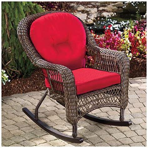 Big Lots Rocking Chair by Wilson Fisher 174 Charleston Resin Wicker Cushioned Rocker