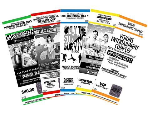 event ticket printing service from 04 ea with same day