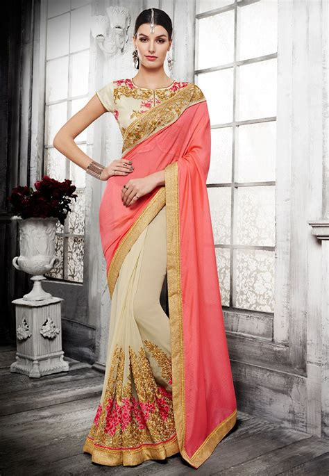 latest half sarees designs 2016 utsav fashion pakistan sarees designs 2016 17