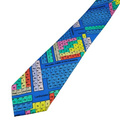 colorful ties colourful periodic table science novelty tie from ties
