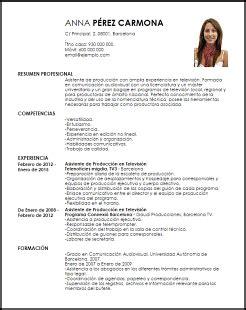 Modelo Curriculum Secretaria Administrativa Modelo Curriculum Vitae Asistente De Producci 243 N En Televisi 243 N Livecareer