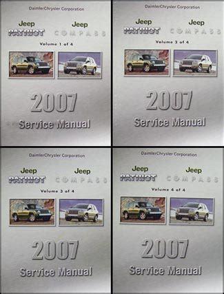 car repair manuals online pdf 2007 jeep patriot user handbook 2007 jeep patriot compass repair shop manual set original 4 vol set