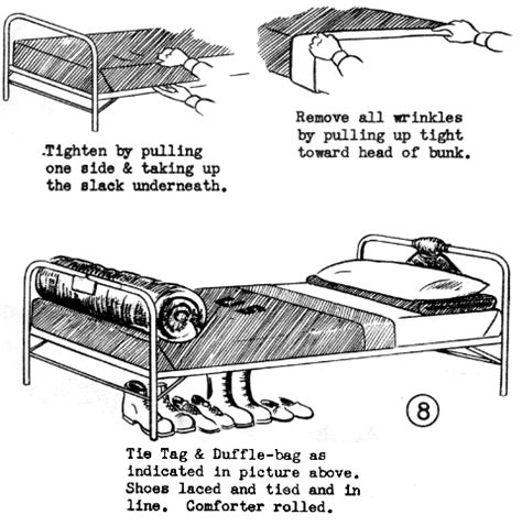 correct way to make a bed p049a