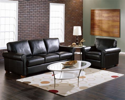 Black Living Room Chairs Black Leather Living Room Furniture Roselawnlutheran