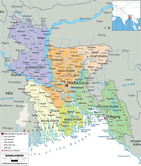 map of bangladesh amar october 2012