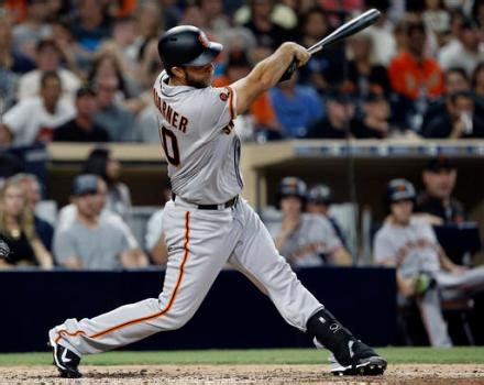 swinging baseball bat giants ace madison bumgarner begins swinging a bat