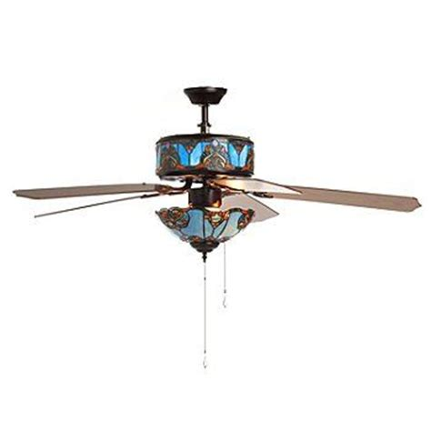 home elegance ceiling fan 52 406 188 tiffany style 52 touch of elegance double lit