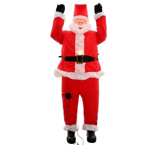 home accents 6 5 ft santa hanging from