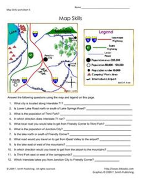 south america map and review worksheet answers map skills 5th 7th grade worksheet lesson planet