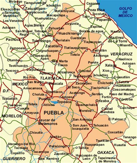 mapa de puebla mexico puebla tehuacan atlixco cholula mexico mapa m