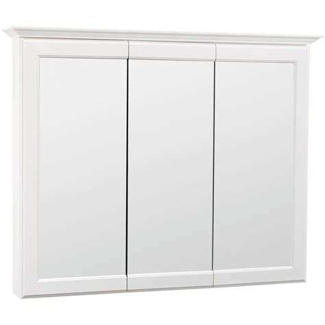 white bathroom medicine cabinet glacier bay premium 37 in x 29 in framed surface mount