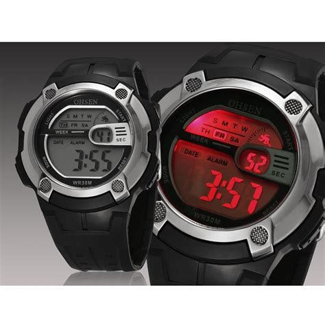 waterproof digital ohsen waterproof digital sport ad0923 black