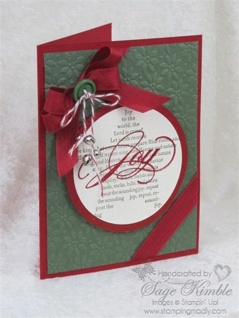 Exles Of Handmade Cards - handmade card to the world sting madly