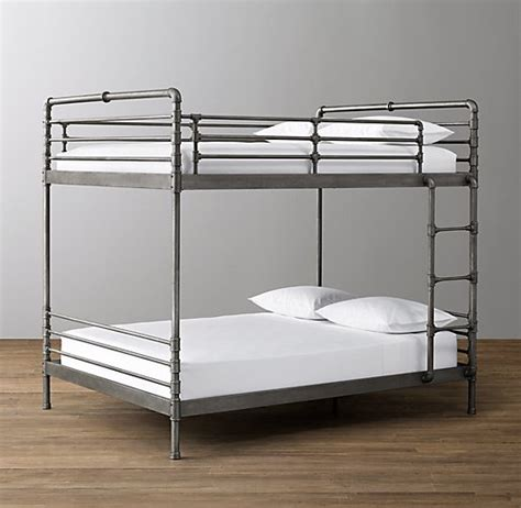 industrial beds industrial steel pipe full over full bunk bed