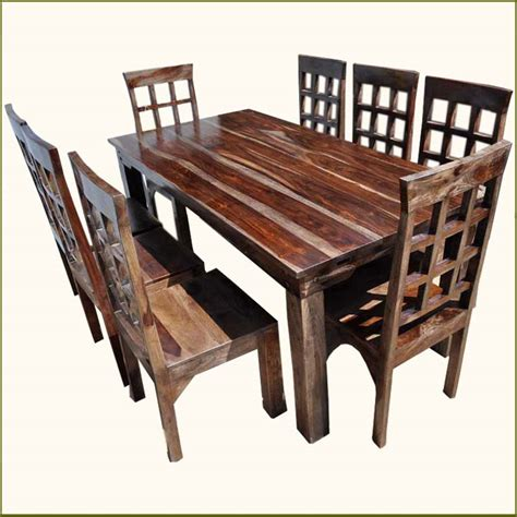 rustic dining room table sets marceladick