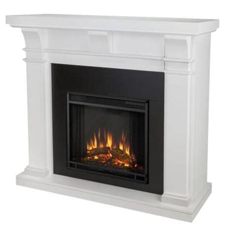 electric fireplaces at home depot real porter 50 in electric fireplace in white 7730e