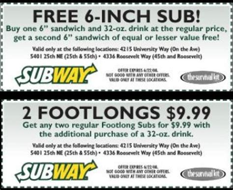 subway restaurant coupons printable free subway menu coupons 6