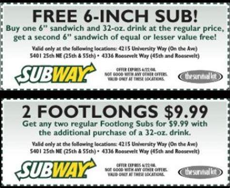 printable subway coupons 2012 9 best images of online printable subway menu 2015