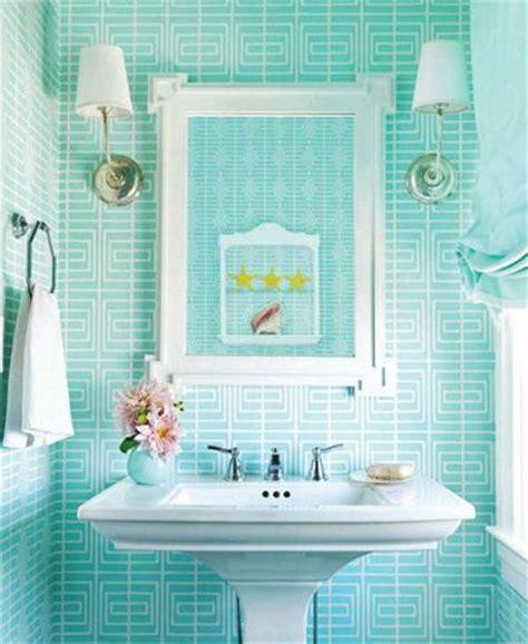 Turquoise Bathroom Design Modernizing A Retro Decor Aqua Colored Bathroom Accessories