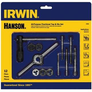 pc machine screw fractional tap hex die set tools