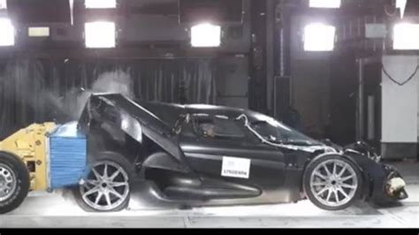 koenigsegg crash test koenigsegg regera crash test is predictably spectacular
