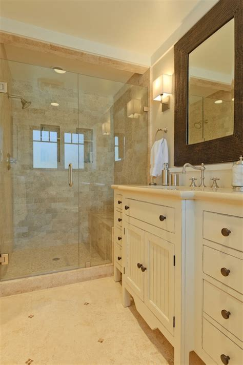 travertine subway tile transitional bathroom sherwin williams accessible beige regan