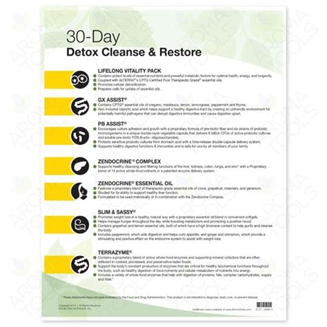 The 30 Day Detox Summary by 3772 Quot 30 Day Detox Cleanse And Restore Quot Tear Pad 50