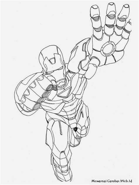 Iron Man - Mewarnai Gambar