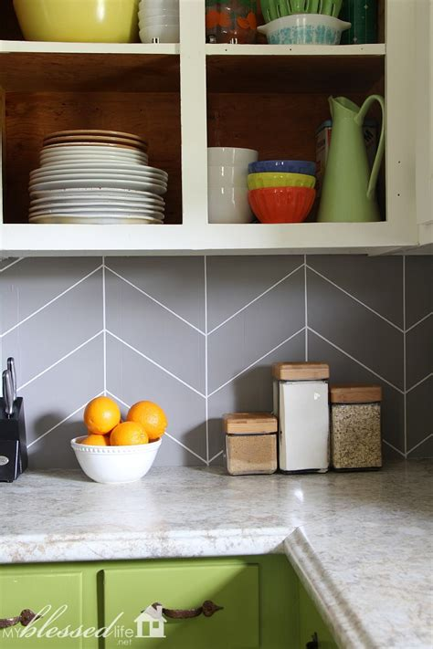 diy tile backsplash kitchen diy herringbone tile backsplash