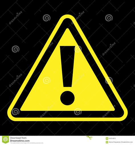 The Sign Black attention sign on black background stock image image of