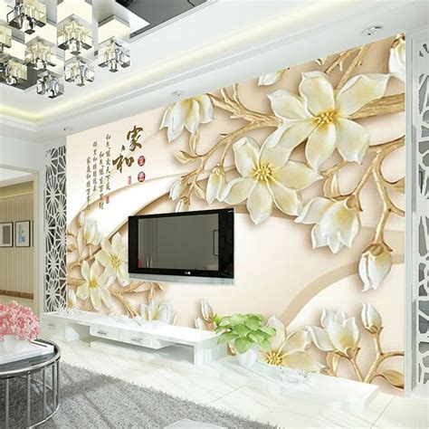 Custom Mural Wallpaper For Bedroom Walls 3d Luxury Gold Jewelry Wa boy sitting promotion shop for promotional boy sitting on aliexpress