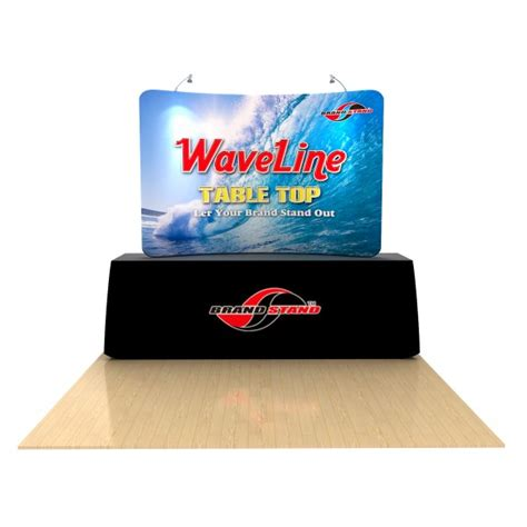 Table Top Displays by 8 Waveline Tension Fabric Table Top Trade Show Display