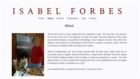 visual artist biography template artist about page content wordpress artist websites
