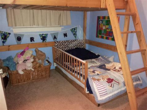 diy toddler loft bed diy toddler bed under loft bed kid stuff pinterest