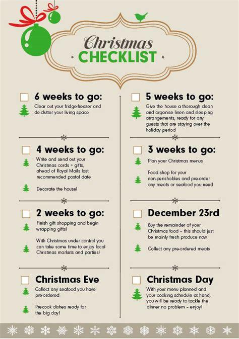 christmas checklist the 6 week countdown wren kitchens