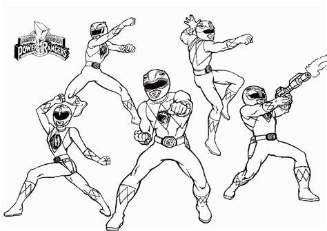 power rangers coloring pages pdf mighty morphin power rangers coloring pages for free