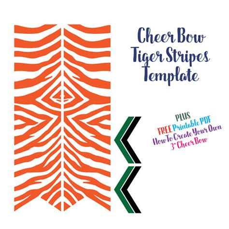 cheer bow template cheer bow template tiger stripes for vinyl heat transfer