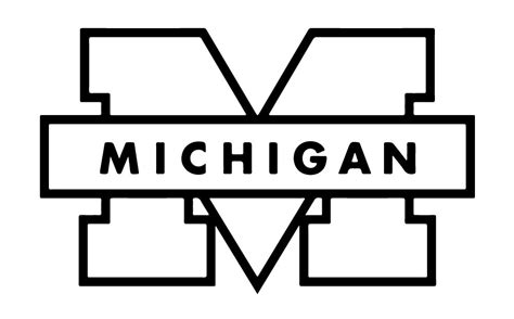 u of m colors or print your michigan wolverines stencil