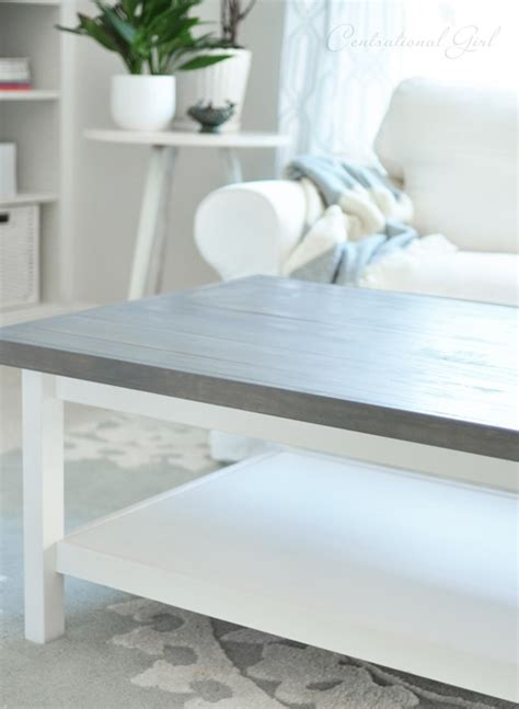 Weathered Gray Coffee Table Weathered Gray Wood Top Hemnes Coffee Table Ikea Hack This Is Pretty Much Exactly What I Want
