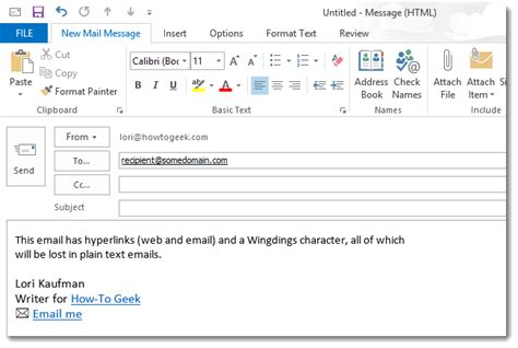 format email text c how to modify a signature for use in plain text emails in