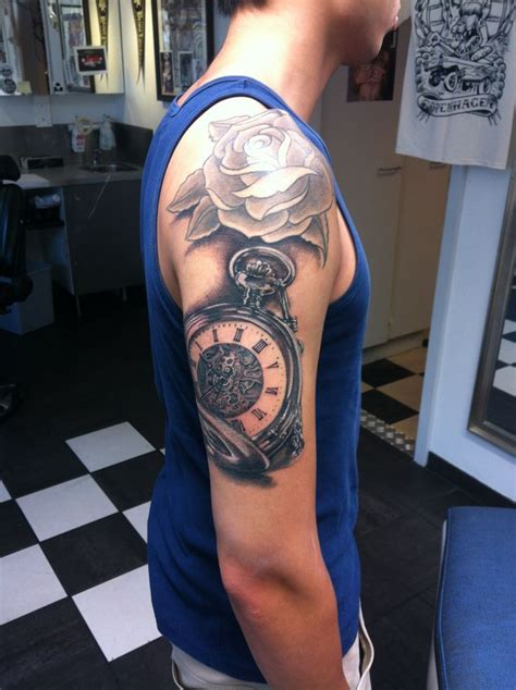 cheap quarter sleeve tattoo 38 best images about pocket watch tattoo on pinterest