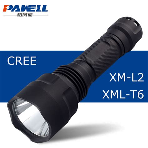 Senter Swat Cree T6 Higlght Tourch 1 Baterai xm l2 tactical flashlight led torch rechargeable waterproof light cree xml t6
