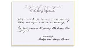 how to fill out rsvp card for wedding rsvp etiquette traditional favour of a reply filled out